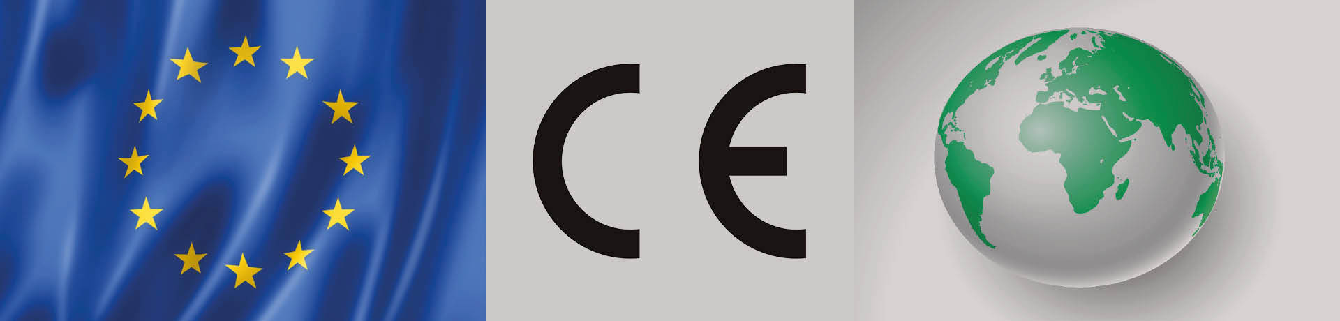 Union européenne, marquage CE et mappemonde