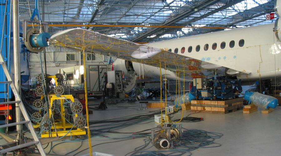Des mesures réalisées sur un avion entier