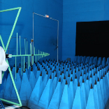 Inside of a semi-anechoic chamber