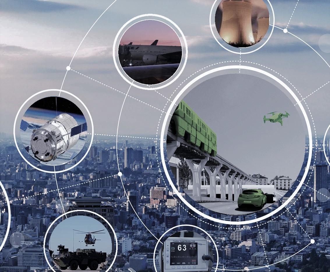 Les secteur clés de Sopemea sont représentés : l'automobile, le ferroviaire, la défense, l'aérospatial, l'énergie et le médical