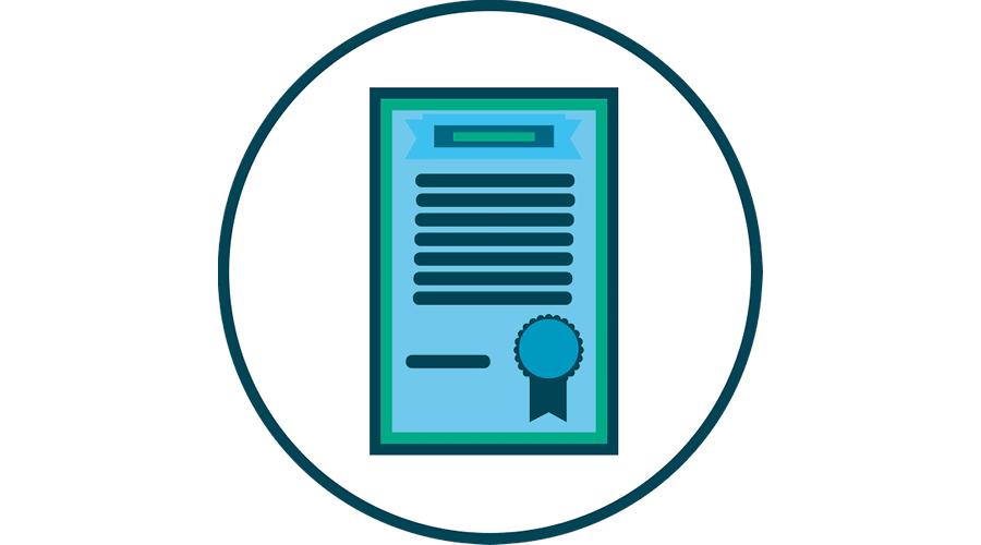 image picturale d'un certificat de réussite
