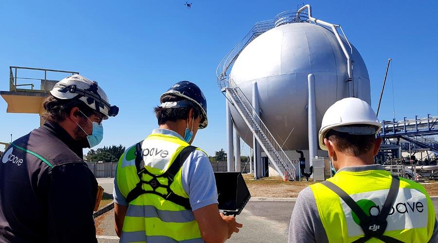 Inspection site pétrolier