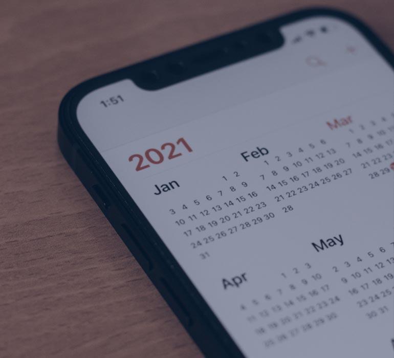 Calendrier Smartphone 2021