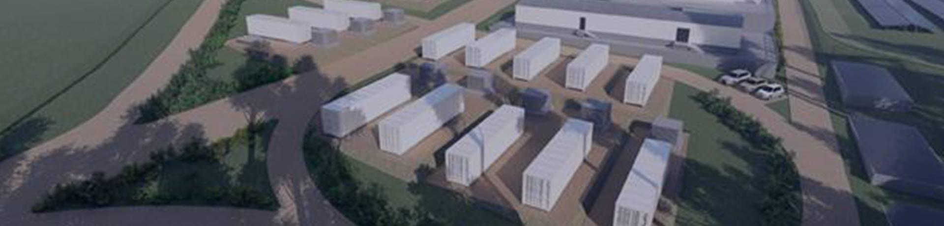 Visuel de cabines dans un champ