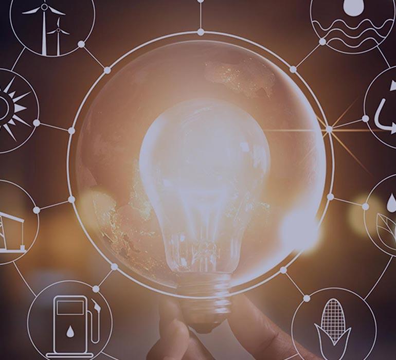 ampoule avec toutes les énergies