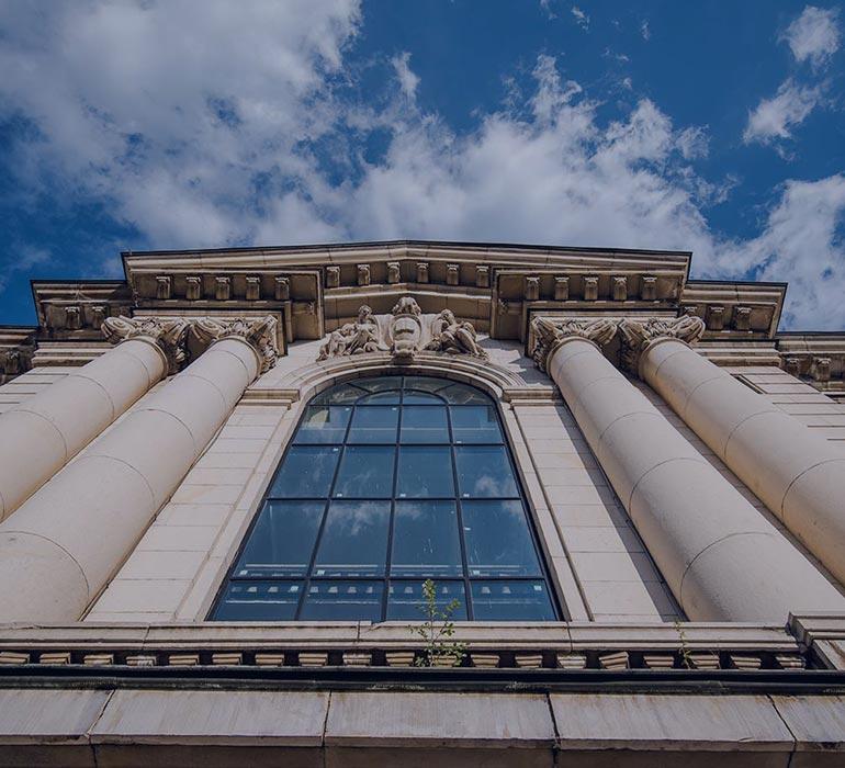 Public building facade