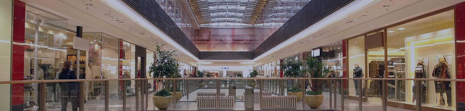 Interior of a shopping centre