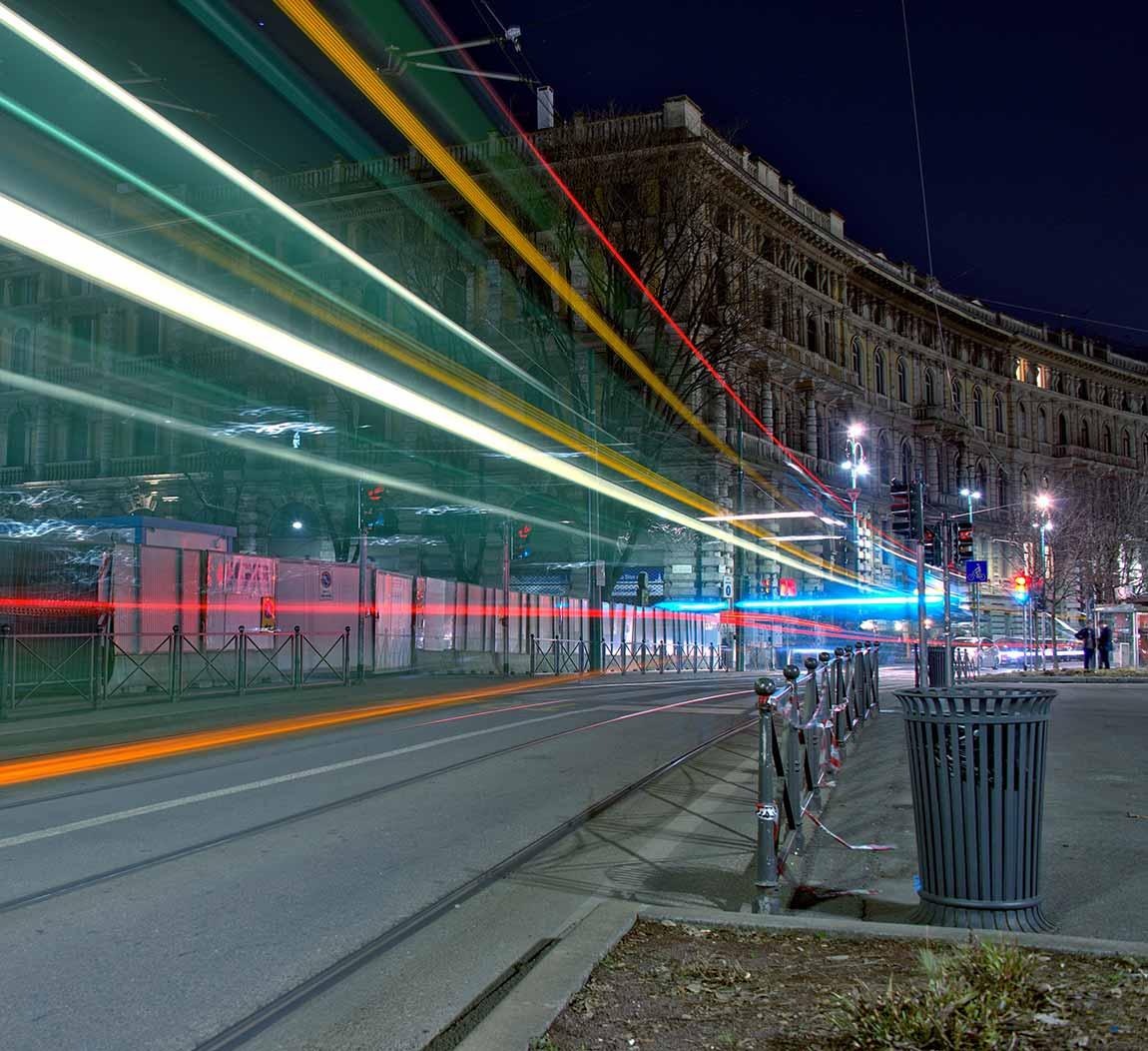 Des lumières dans la rue
