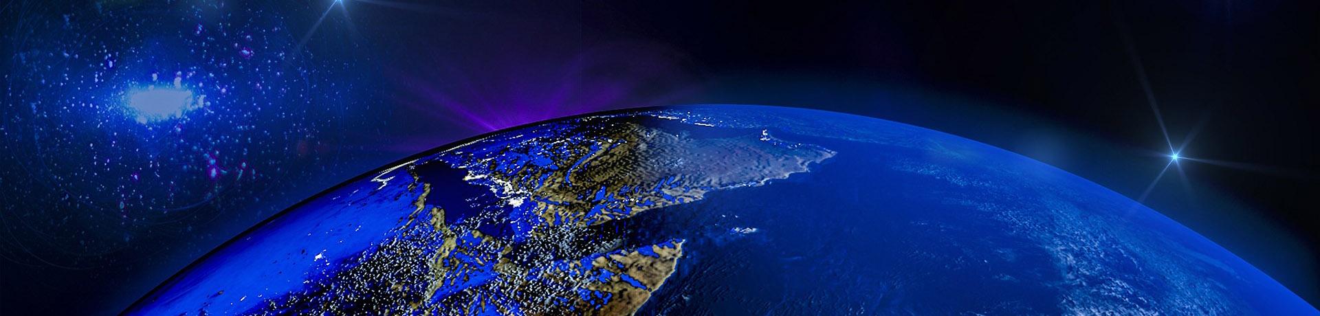 Planète Terre vue d'en haut