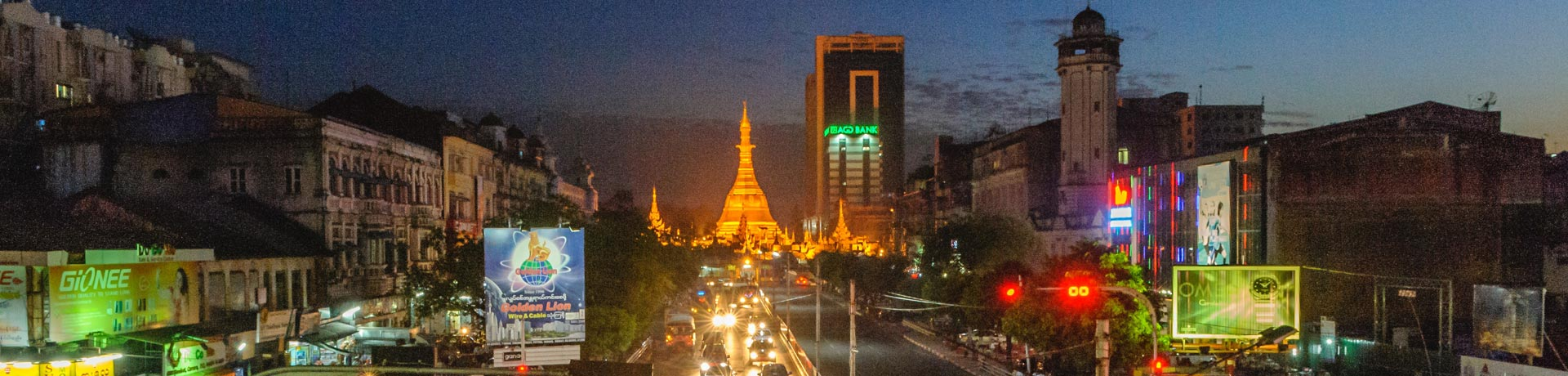 Vue de Rangoun Birmanie