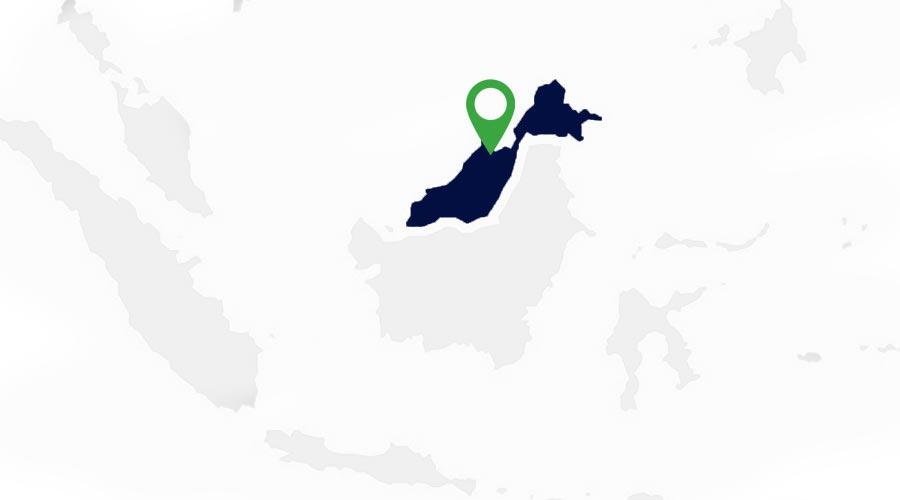 Apave location in Borneo