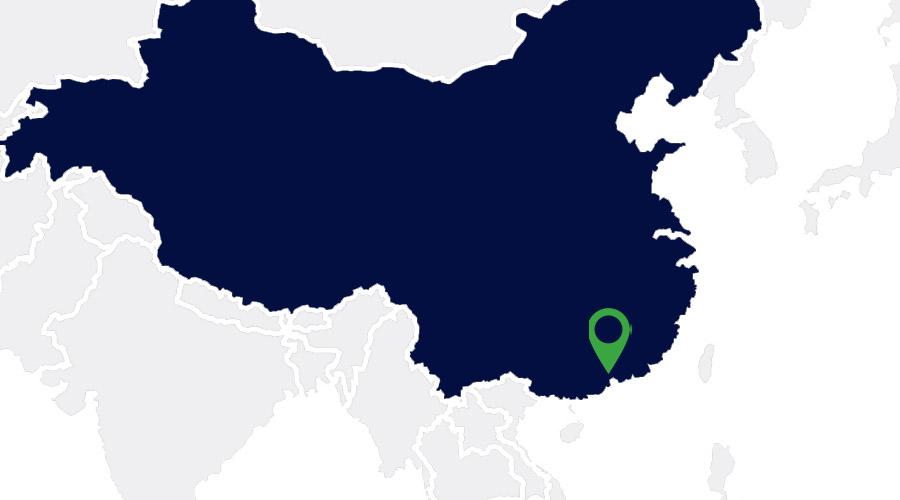 Carte représentant la Chine
