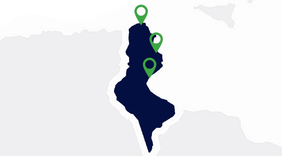 Carte implantations Apave Tunisie