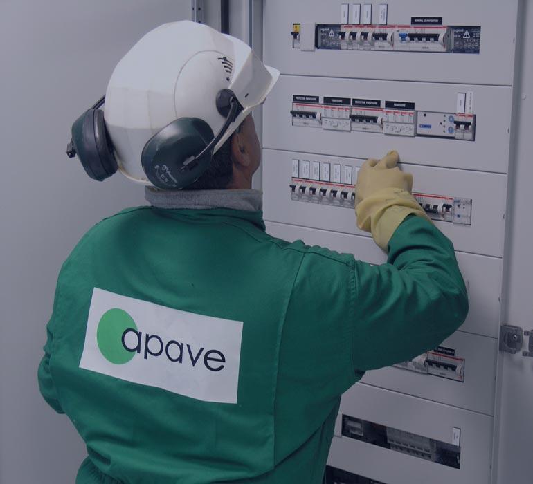 Intervention vérification électrique Apave